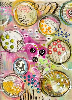 "Gorgeous, bright colours from Roben-Marie. I am loving these circles! ""Every Life Has a Story!"" - {Roben-Marie Smith} - Paper Book Peek... http://www.robenmarie.com/blog/2013/8/26/paper-book-peek.html"