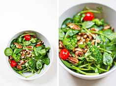 Warm Spinach and Broccoli Salad @Brian - A Thought For Food