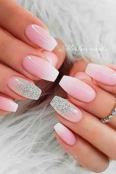 Gentle Ombre Nails ★ Who doesn't love pink nails? We have picked some nail designs in pink shades that look simply adorable. Check them out here. nail design Daily Charm: Over 50 Designs for Perfect Pink Nails Ombre Nail Designs, Acrylic Nail Designs, Nail Art Designs, Sparkle Nail Designs, Elegant Nail Designs, Accent Nail Designs, Pretty Nail Designs, Pink Nails, Glitter Nails