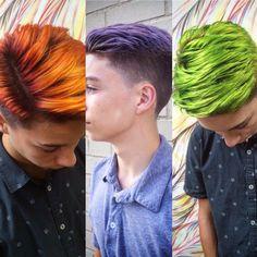 Men's hair color men's style by Austin Ruiz Garcia @selfsalonfl pensacola Florida #pravana #menscolor 2015