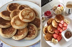 Recept na lievance. Nadýchané, rýchle ajednoduché Breakfast Recipes, Pancakes, Recipies, Food And Drink, Sweets, Dinner, Baking, Hampers, Kitchens