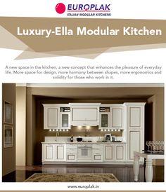 Luxury Ella Modular Kitchen For more details Visit : http://www.europlak.in/