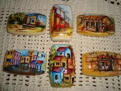 Sabonetes pintados a mão Sabonetes pintados a mão Sabonetes pintados ...