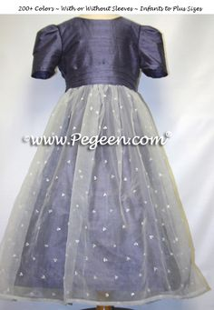 391 Silk and Sequined Organza Silk Flower Girl Dresses Euro Lilac by Pegeen