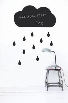 For a rainy day wall stickers