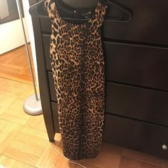 I just discovered this while shopping on Poshmark: Leopard Party Dress. Check it out!  Size: S