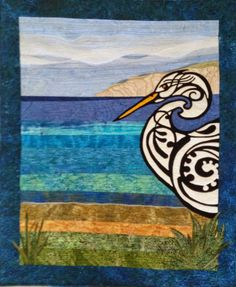 Lost in Transit by Mary Williams.  2015 New Zealand Quilt Symposium.  Photo by Don't Wait To Create.