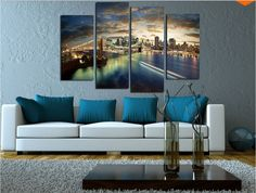 Only one in the world is our New York Golden Gate Bridge. This four panel wall art will bring the feel on New York in your room. You can get it framed or unframed. Home decor living room outdoor large print