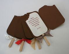 good idea for a birthday party or summer party invitation. It is in a foreign language but I get the gist.