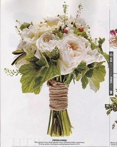 bouquet wrapped in twine! | VIA #WEDDINGPINS.NET