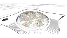 Denmark's Largest Exhibition Centre To Be Further Expanded by Urban Agency,Event Square Diagram. Image © Urban Agency