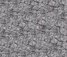 *Peonies* fabric by akwaflorell on Spoonflower - custom fabric