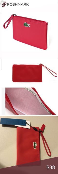Lacoste Red Wristlet Brand new. Let me know if you have any question. Lacoste Bags Clutches & Wristlets