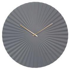 PAVIA grey metal clock D 50 cm