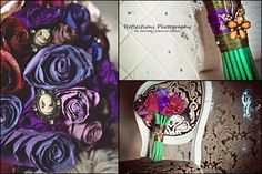 www.facebook.com/PaperFlowersBySimona Reflection Photography, Paper Flowers, Real Weddings, Bride, Bouquets, Facebook, Wedding Bride, Bridal, Bouquet