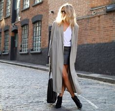 long coat + short boots