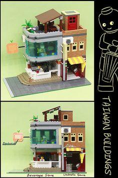 2013 台灣特色樂高創意建築賽 - 夜市人生 2013 Taiwan Creative Building Contest - Life of Night Market Legos, Lego Lego, Lego Moc, Lego Batman, Lego Ninjago, Lego Display, Amazing Lego Creations, Lego Craft, Lego Games