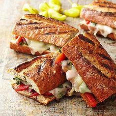 Roasted Pepper-Mozzarella Melts From Better Homes and Gardens, ideas and improvement projects for your home and garden plus recipes and entertaining ideas.