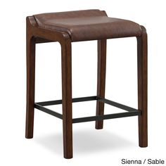 Elmo Bonded Leather Counter Stool Chairs Turquoise And