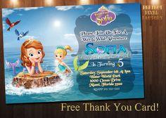 SOFIA THE FIRST Invitation Sofia Mermaid by PerfectPixelFactory
