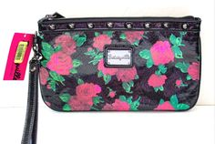 NWT BETSEY JOHNSON Betseyville WRISTLET Clutch Zipper BAG Coin Purse-Rosey Days #Betseyville #WristletClutch