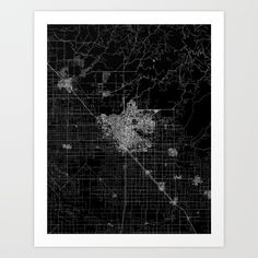 Buy Fresno map Art Print by Line Line Lines. Worldwide shipping available at Society6.com. Just one of millions of high quality products available.