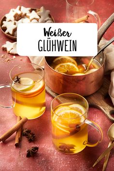 White Glühwein - Making white mulled wine yourself Hot drinks Christmas market Christmas Christmas punch Cold outsid - Mulled White Wine, Mulled Wine, Christmas Punch, Christmas Drinks, Healthy Eating Tips, Healthy Life, Gourmet Recipes, Healthy Recipes, Recipes