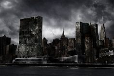 Destroyed City by Nation17.deviantart.com on @deviantART