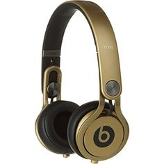 Buy Beats by Dre Mixr High-Definition Headphone Gold, One Size Dre Headphones, Over Ear Headphones, Beats By Dre, Gadgets And Gizmos, Boombox, High Definition, Gold, Accessories, Prom Games