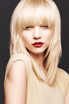 Blond hair love the bangs!!