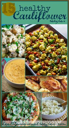 15-healthy-cauliflower-recipes and they all look amazing!  (Thanks for including my Pureed Cauliflower with Garlic, Parmesan, and Goat Cheese!)