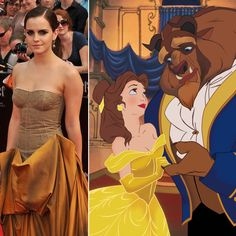 Pin for Later: 10 Reasons Emma Watson and Prince Harry Would Make the Perfect Couple Emma will be learning how to be a princess on the big screen. Hermione playing Belle in the live-action Beauty and the Beast film is quite the coincidence, don't you think?