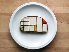 Modern art sandwiches! Claire studied Mondrian in school and will love this.