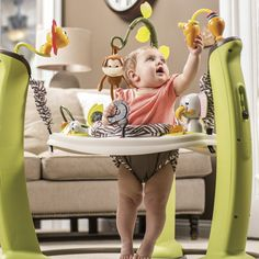 Evenflo ExerSaucer Jump and Learn Jumper Jungle Quest *** Extra details might be found at the photo link. (This is an affiliate link). Infant Activities, Activities For Kids, Physical Activities, Pet Toys, Baby Toys, Baby Jumper, Baby Bouncer, Kids Up, Trends