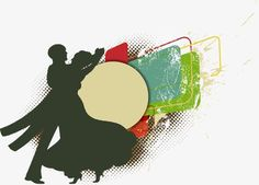 Men and women dancing silhouettes background, Men And Women, Dance, Sketch PNG and Vector