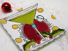 Hand painted martini fun