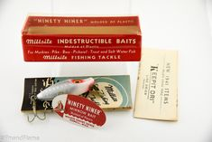 Millsite Baby 99R Antique Fishing Lure This Millsite Baby 99R Antique Fishing Lure is shown in it's Original Box with scarce Catalog & Paperwork Insert. In 1941, the Millsite Steel & Wire Works introduced its first lure box with a plastic top. This is an excellent example of one of...