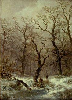 Remigius Adrianus van Haanen - Winters bosgezicht