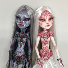 Custom MH Dolls by candys_dolls Hena Custom Monster High Dolls, Monster Dolls, Monster High Repaint, Custom Dolls, Ooak Dolls, Blythe Dolls, Art Dolls, Personajes Monster High, Doll Painting