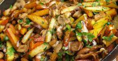 Vyprážané zemiaky so šampiňónmi - Receptik.sk Kung Pao Chicken, Pork, Cooking Recipes, Beef, Ethnic Recipes, Hub, Kale Stir Fry, Meat, Chef Recipes