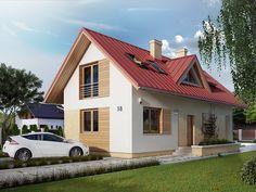 Projekt Dalia 2 (93,77 m2) to projekt na wąską działkę z możliwością budowy na działce o szerokości 13 metrów. Pełna prezentacja projektu dostępna jest na stronie: http://domywstylu.pl/projekt-domu-dalia_2.php. #projekty #domy #projekty gotowe #projekty domów #domywstylu #mtmstyl #style #design #home #houses #architektura