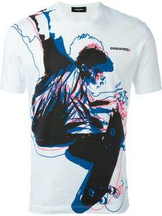 Dsquared2 skateboarder print T-shirt