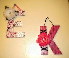 Leslie Marquez Designs: Chip Board Letters