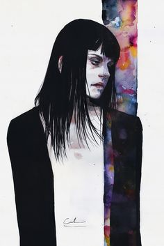 Through Your Own Fault by Agnes Cecile - Prints now available at Eyes On Walls - http://www.eyesonwalls.com/products/through-your-own-fault