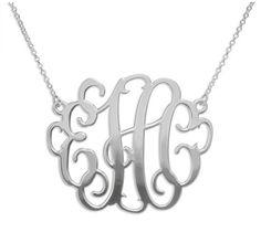 Celebrity Style Monogram Necklace - Large
