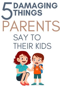 Parenting Hacks | Here are 5 things that parents say that can emotionally damage their children. #mentalhealth #momlife #parenting #parentingtips #parentinghacks #kids Our Kids, My Children, Children Health, Feeling Like A Failure, Common Phrases, Feeling Sorry For Yourself, Health Activities, First Time Parents, Positive Discipline