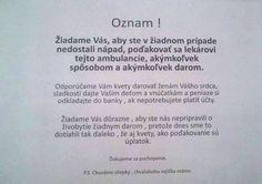A takto to na Slovensku chodí...