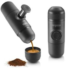 A compact, hand-operated espresso machine that makes sure you get your caffeine shots wherever the hell you may be. | 26 Of The Coolest Things On Amazon Launchpad