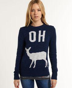Superdry Oh Dear trui met ronde hals - Gebreide kleding voor Dames