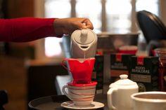 Passando o café Melitta na hora - Restaurant Week SP.